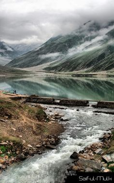 Lake Saif-ul-Mulook, Pakistan. Saif-ul-Muluk is a mountain lake located at the northern end of the Kaghan Valley, near the town of Naran. It is in Khyber-Pakhtunkhwa province, and feeds water to the Kunhar River.