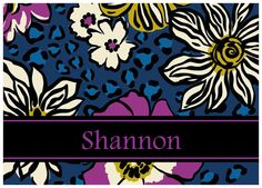 Great gift idea!  Vera Inspired Personalized Notecards: African Violet