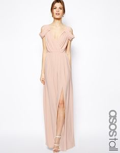 This dress is so elegant in an understated way; the Grecian style is flattering on tall figures.