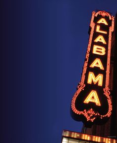 """My introduction to the Alabama Theatre was on 4th grade Sunday School field trip......""""That Darn Cat""""!   Orange Ade served in orange shaped beverage containers.  I still think its cool!"""