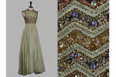 "Pierre BALMAIN evening dress, circa 1955/60 (modèle ""Méduse"")."