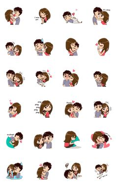 icu ~ Pin on Love quotes ~ - So Much Love Animated – LINE stickers Love Cartoon Couple, Cute Couple Comics, Cute Couple Art, Bebe Anime, Anime Love, Cute Love Pictures, Cute Love Gif, Pixel Animation, Kyoto Animation