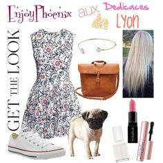Get the Look : @EnjoyPhoenix au dédicaces de Lyon ! by mathildebounhol on Polyvore featuring polyvore fashion style H&M Converse Smashbox Too Faced Cosmetics Essie