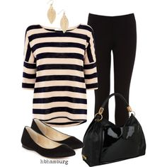 """No. 186 - Black stripes"" by hbhamburg on Polyvore"