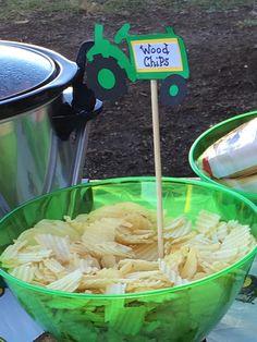 Wood chips Tractor Birthday, Farm Birthday, Animal Birthday, First Birthday Parties, Birthday Party Themes, Birthday Ideas, Cowgirl Birthday, Birthday Banners, 1st Birthdays