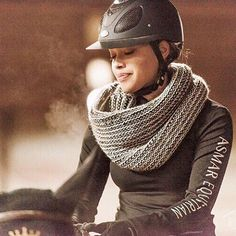That feeling.  Noel Asmar Equestrian, Women's Long Sleeve Logo Tee in Black.