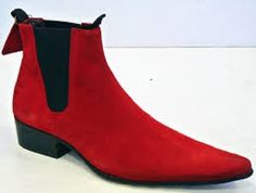 Handmade men pointed toe boots, red ankle boot formen, men suede leather boots sold by Bishoo. Shop more products from Bishoo on Storenvy, the home of independent small businesses all over the world. Red Ankle Boots, Suede Boots, Leather Heels, Suede Leather, Cow Leather, Men Boots, Leather Fashion, Mens Fashion, Moda Masculina