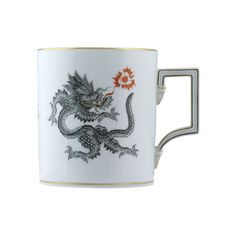 Ming dragon porcelain mug by Meissen