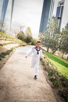 Comuniones, rascacielos, niño, correr, fotografia