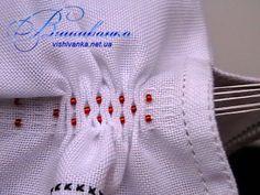 Оформлення низу рукава вишитої сорочки: брижі з бісером - Майстер-клас - Вишиванка