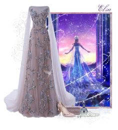 """Love Melts A Frozen Heart - Elsa"" by love-n-laughter ❤ liked on Polyvore featuring Disney, Judith Leiber, RALPH & RUSSO, Kate Marie and Glitzy Rocks"