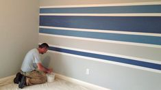 87 Best Paint Stripes Images Homes Bed Room Bricolage