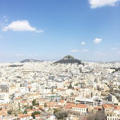 View from the Acropolis, Athens, Greece Acropolis, Athens Greece, Places Ive Been, Paris Skyline, Mental Health, To Go, Creative, Instagram Posts, Travel