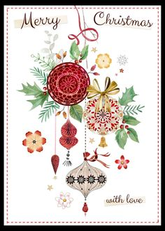 Leading Illustration & Publishing Agency based in London, New York & Marbella. Christmas Decoupage, Christmas Paper, Vintage Christmas Cards, Christmas Baubles, Winter Christmas, Elegant Christmas, Christmas Graphics, Christmas Clipart, Christmas Printables