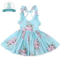 Baby Girls Dress Brand Summer Beach Style Floral Print Party Backless Dresses For Girls Vintage Toddler Girl Clothing - Kid Shop Global - Kids & Baby Shop Online - baby & kids clothing, toys for baby & kid Toddler Princess Dress, Toddler Girl Outfits, Toddler Dress, Baby Dress, The Dress, Kids Outfits, Dress Girl, Princess Party, Toddler Girls