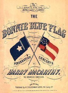Sheet music from the Civil War, especially popular in the war's beginning.