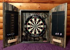 Picture of Dartboard cabinet from pallets