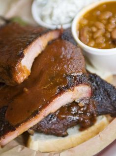 6. Ribs with baked potato salad and barbecue cowboy beans at Bryan's Black Mountain Barbecue in Cave Creek.