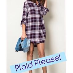 Plaid Flannel Shirt Plaid flannel shirt. Button down. Wine color.  Please do not purchase this listing. Comment your size & I will make you a personal listing for purchase. trades ✅ bundle & save Tops Button Down Shirts