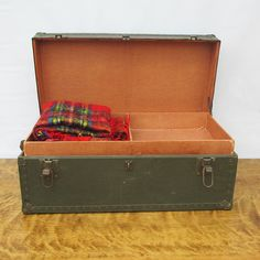 World War II Military Footlocker - Steamer Trunk With Tray by leapinglemming on Etsy