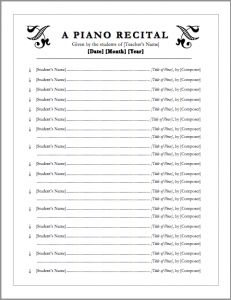 FREE download! Editable recital program templates! | Music Class ...