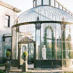 Ballyfin is both regal and wild, just like Ireland itself. #conservatorygreenhouse