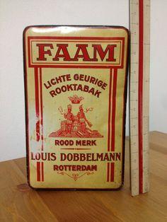 Rare Old FAAM Louis Dobbelmann Pipe Tobacco Tin - Alte Blechdose - Rotterdam | eBay