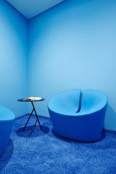 Beautiful blue interior design