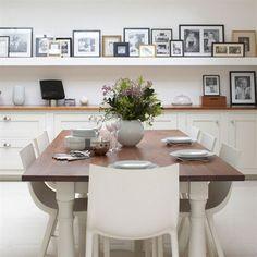 Click Interiores | Mesa Rústica com Cadeira Moderna