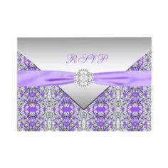 Diamond Purple Invitations.Gotta have invitations to reflect your wedding.