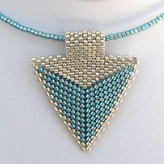 Modern Silver and Turquoise Arrowhead Choker 2119  A by SandFibers, $22.00