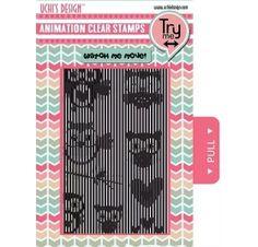 Set de Tampons transparents et grille pour animation 'Uchi's Design' Flying Owl