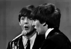 Cute Paul McCartney and George Harrison.