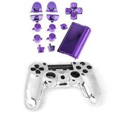 a cascara ps4 boton completo peliculas videojuegos games electronicos morado