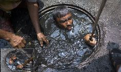 A Dhaka City Corporation Sewer Cleaner At Work, In Bangladesh Funny Photos, Cool Photos, Bao Long, Safety Fail, Creator Of The Universe, Royal Photography, Dhaka Bangladesh, Human Settlement, Photos Of The Week