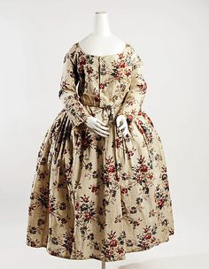 Dress  Date: 18th century Culture: French Medium: cotton Dimensions: Length (a): 34 in. (86.4 cm) Length (b): 14 1/2 in. (36.8 cm) Credit Line: Gift of William Slone Coffin, 1927 Accession Number: 27.34a, b
