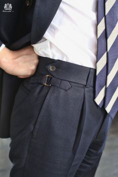 • It is in the details you see difference. It is in the details you make your style. With bespoke tailoring you can have sartorial integrity. Here are some examples of this. A high waistband, reversed...