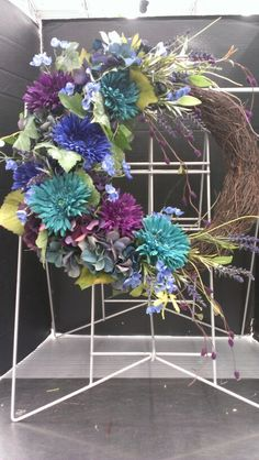 Summer colors Wreath...Robin Evans