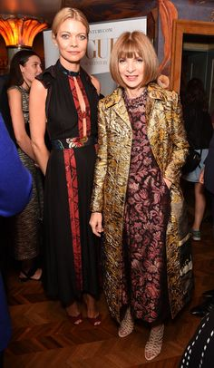 Jemma Wellesley and Anna Wintour