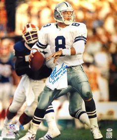 "Troy Aikman Autographed 20x24 Photo Dallas Cowboys """"SB XXVII MVP, 293 Yds....4 TD's"""" PSA/DNA Stock"