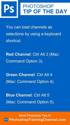 You can load channels as selections by using a keyboard shortcut.Red Channel…