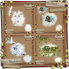 January 22:  Winter Wonderland Page Spray Bundle