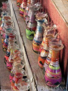 Egypt Travel: Sand in a bottle - Egyptian Sand Art