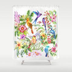 birdies Shower Curtain