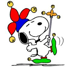 Snoopy Wearing his Jester Costume