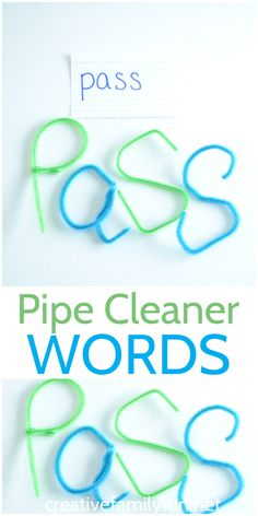 You don't have to write your words to practice spelling instead your can bend twist and curve to create Pipe Cleaner Words. spelling and handwriting Spelling Word Practice, Spelling And Handwriting, Spelling Worksheets, Spelling Activities, Spelling Words, Kindergarten Activities, Learning Activities, Preschool, Word Study