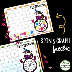 This editable spin and graph activity is a super fun way to practice any skill!  It's perfect for K-2.