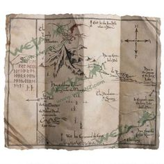 The Hobbit: An Unexpected Journey Thorin's Map Prop Replica by Weta