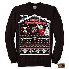 Awkward Styles Awkwardstyles I Got Hos In Different Area Codes Sweater Ugly  Christmas Crewneck XL Black