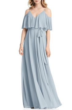 100 Bridesmaid Dresses Perfect for Your Fall Wedding | The Perfect Palette Chiffon Flowers, Chiffon Gown, Jenny Packham Dresses, Lace Sheath Dress, Wedding Suits, Nordstrom Dresses, Flare Dress, Casual Dresses, Women's Dresses